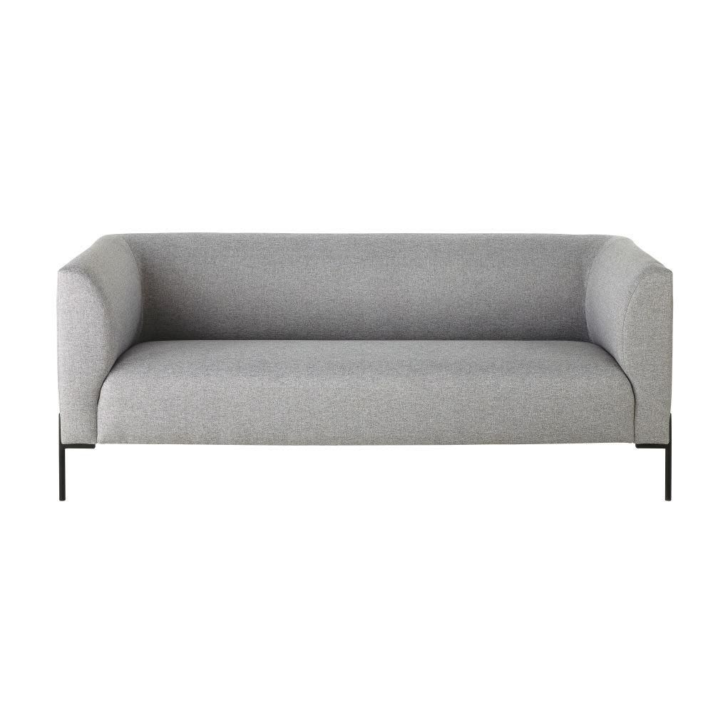 3 Sitzer Sofa Grau Polina Maisons Du Monde