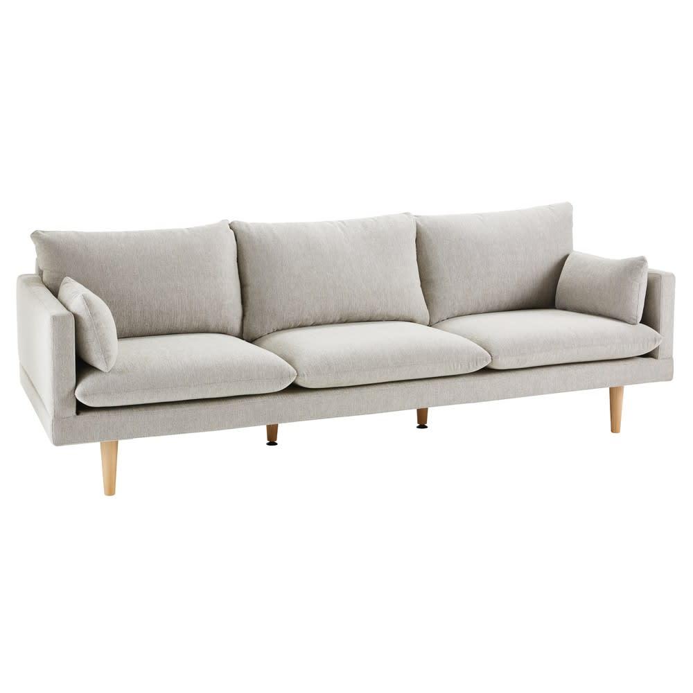 3 Sitzer Sofa Hellgrau Collins Maisons Du Monde