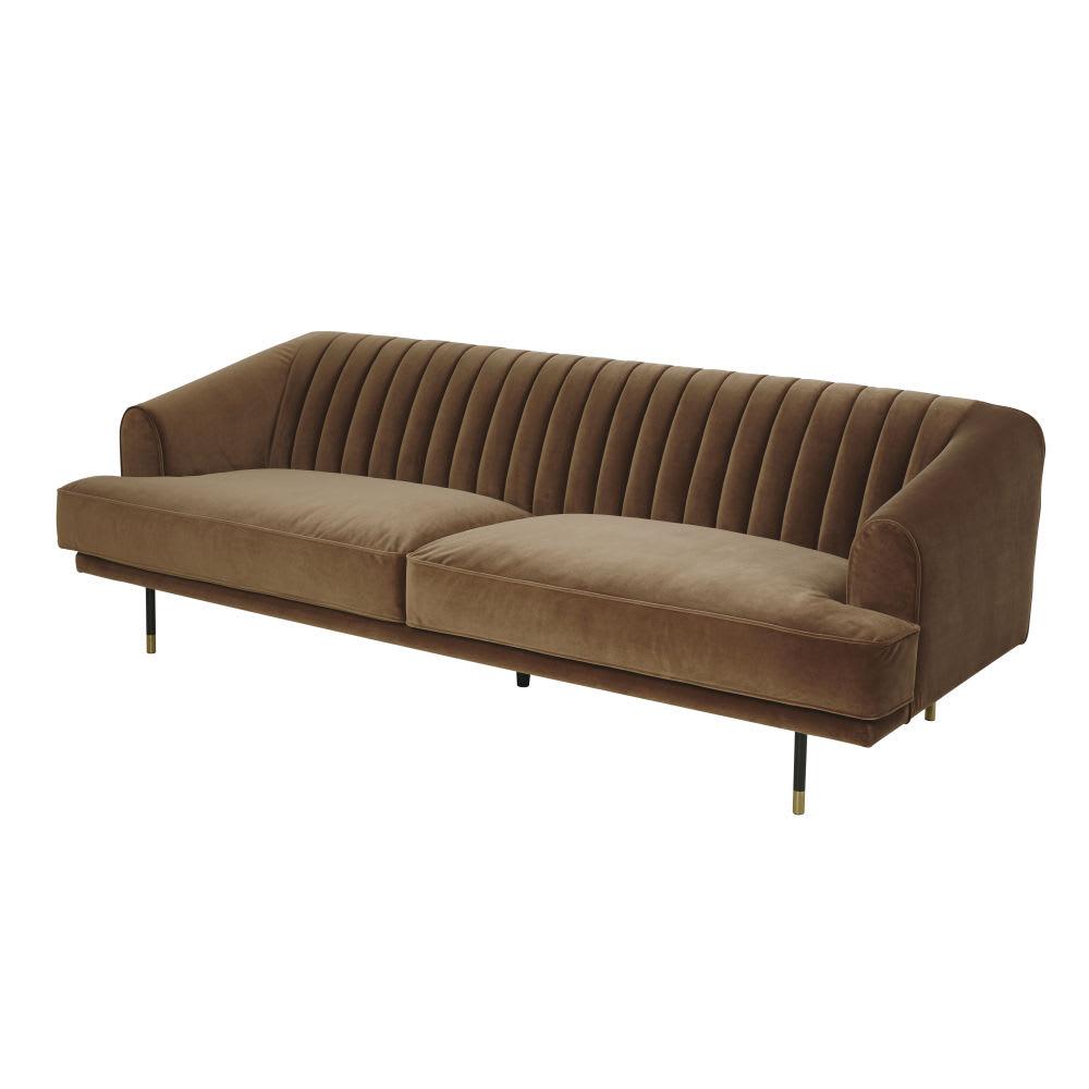 3 sitzer sofa im vintage stil mit bezug aus for Sofa orientalischer stil