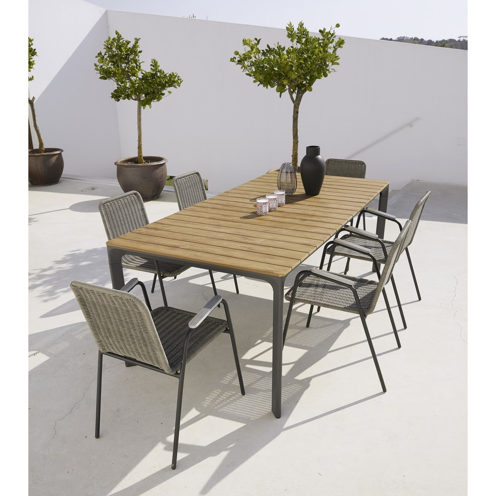 6-8 Seater Aluminium and Composite Garden Table L200 Fuji | Maisons ...