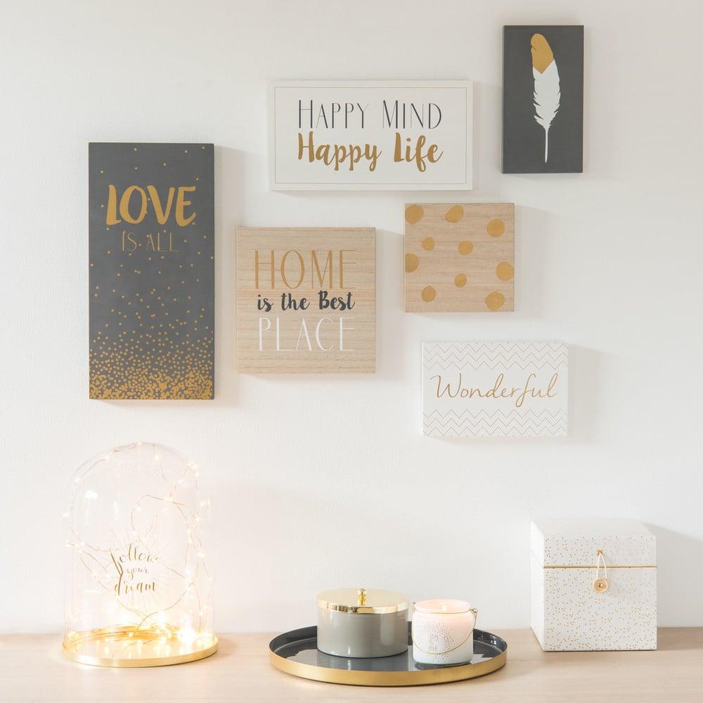 6 Tableaux Imprimés Love