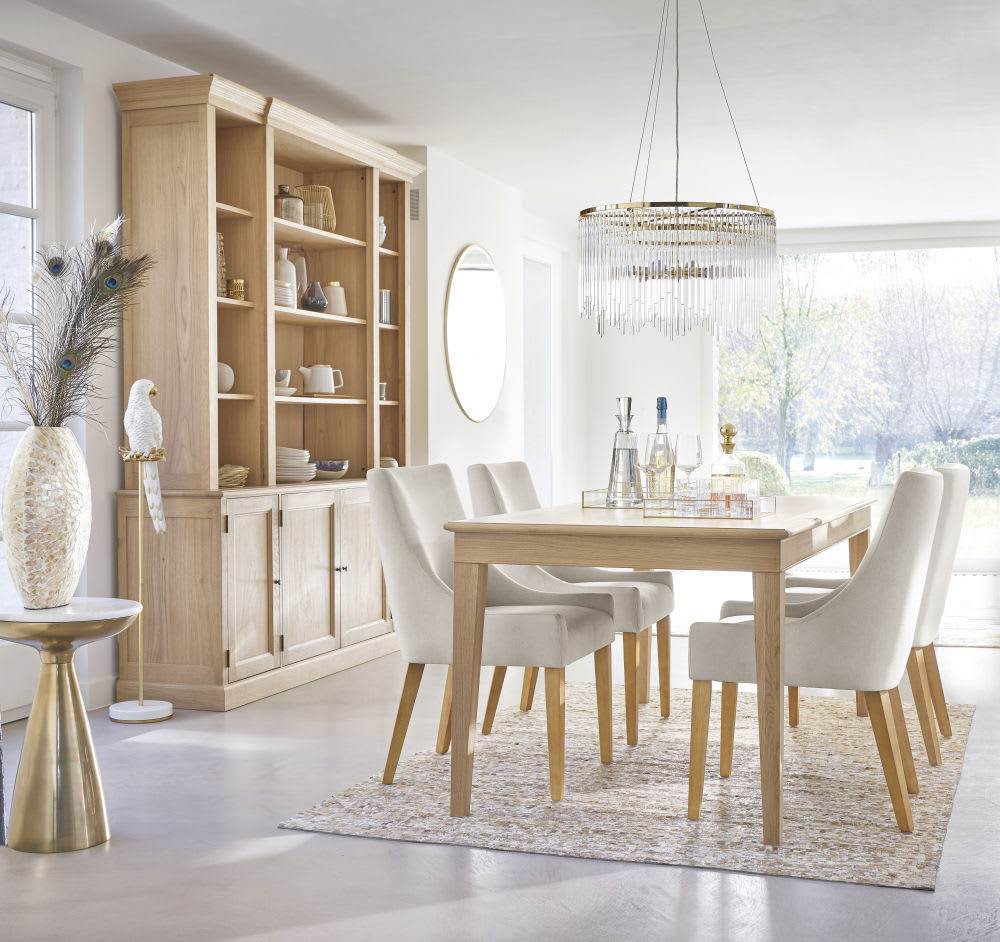 Photo of 8-person herringbone dining table l180cm