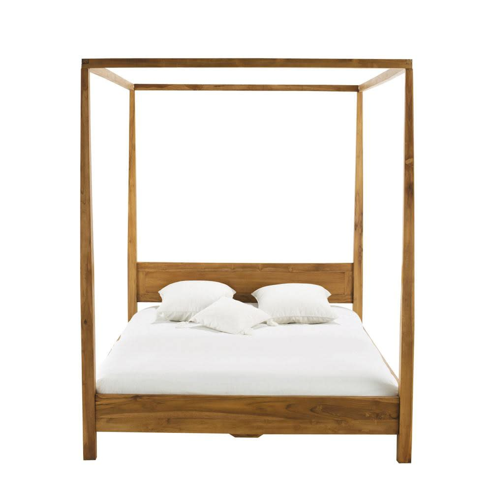 Acacia 160 X 200 King Size Four Poster Bed Amsterdam Maisons Du Monde