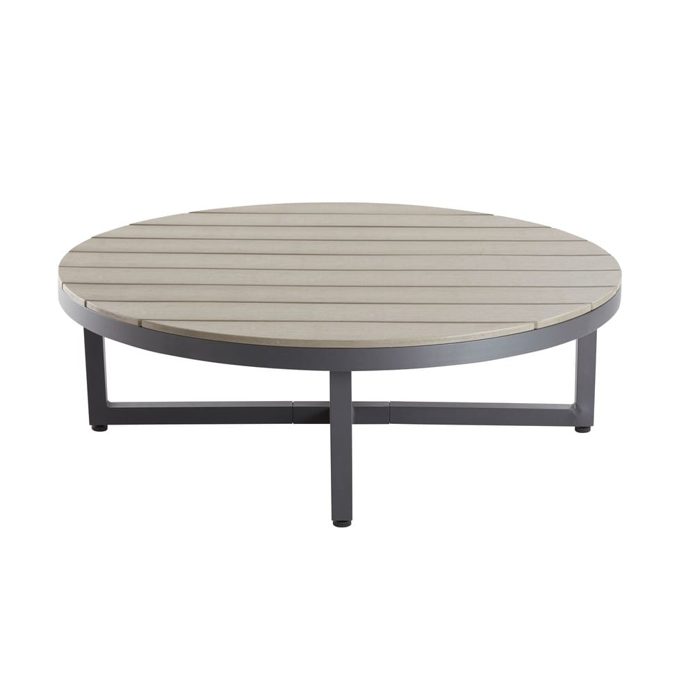 Aluminium and Composite Round Garden Coffee Table Escale | Maisons ...
