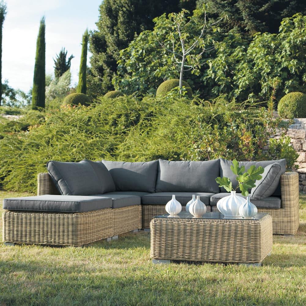 Angle de canapé de jardin en résine tressée St Raphaël | Maisons du ...