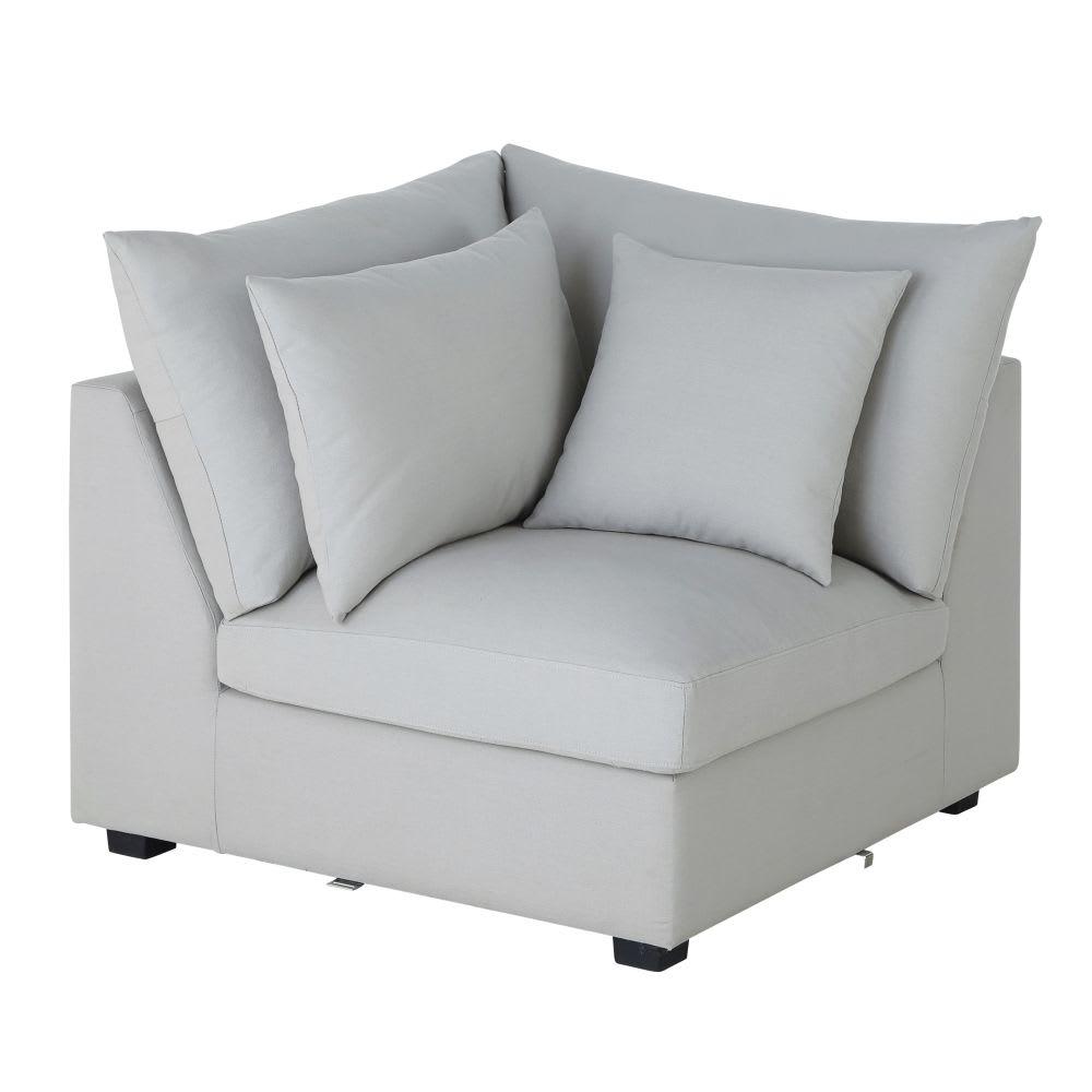 angle de canap en coton gris clair rhodes maisons du monde. Black Bedroom Furniture Sets. Home Design Ideas