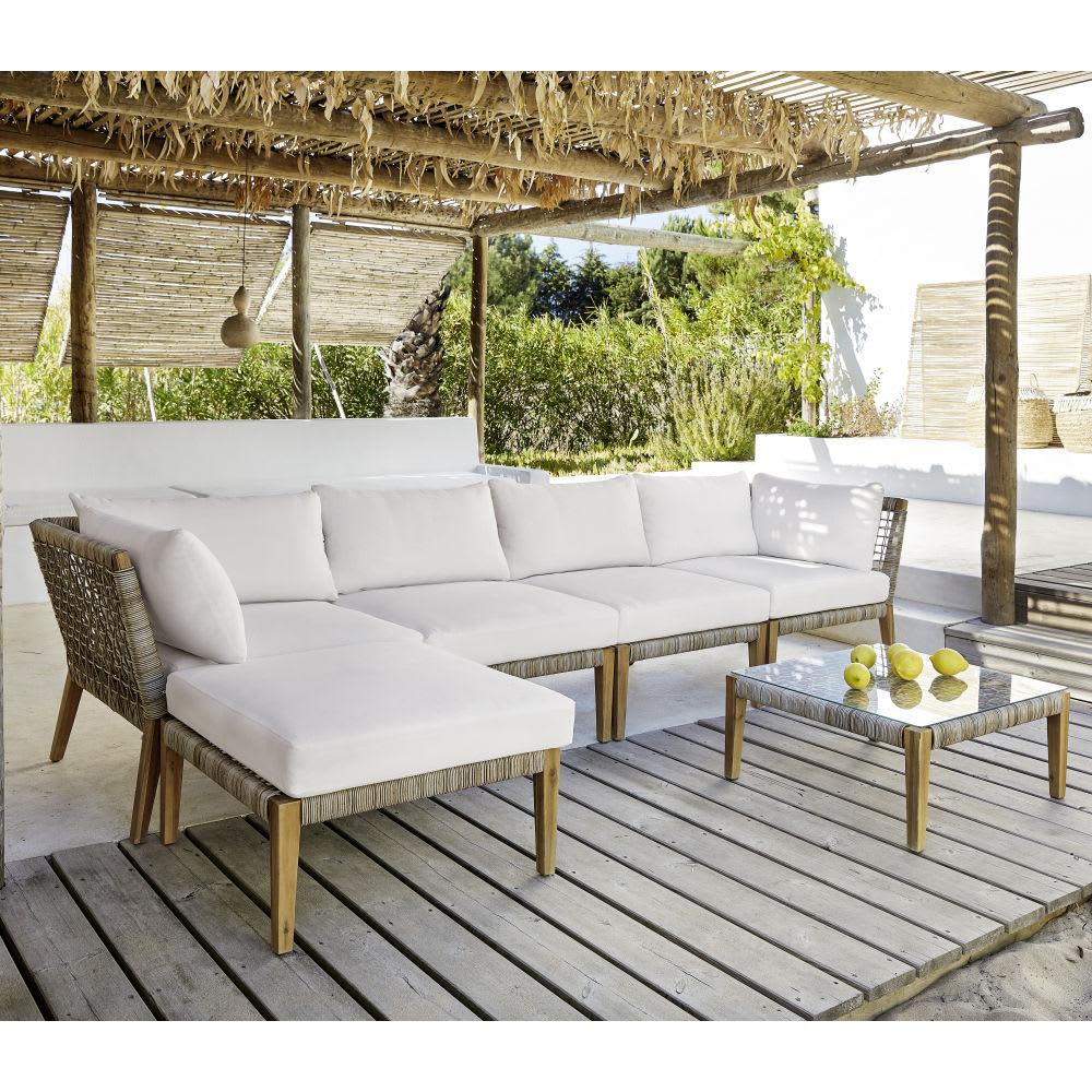 angle de canap modulable de jardin en r sine tress e seychelles maisons du monde. Black Bedroom Furniture Sets. Home Design Ideas
