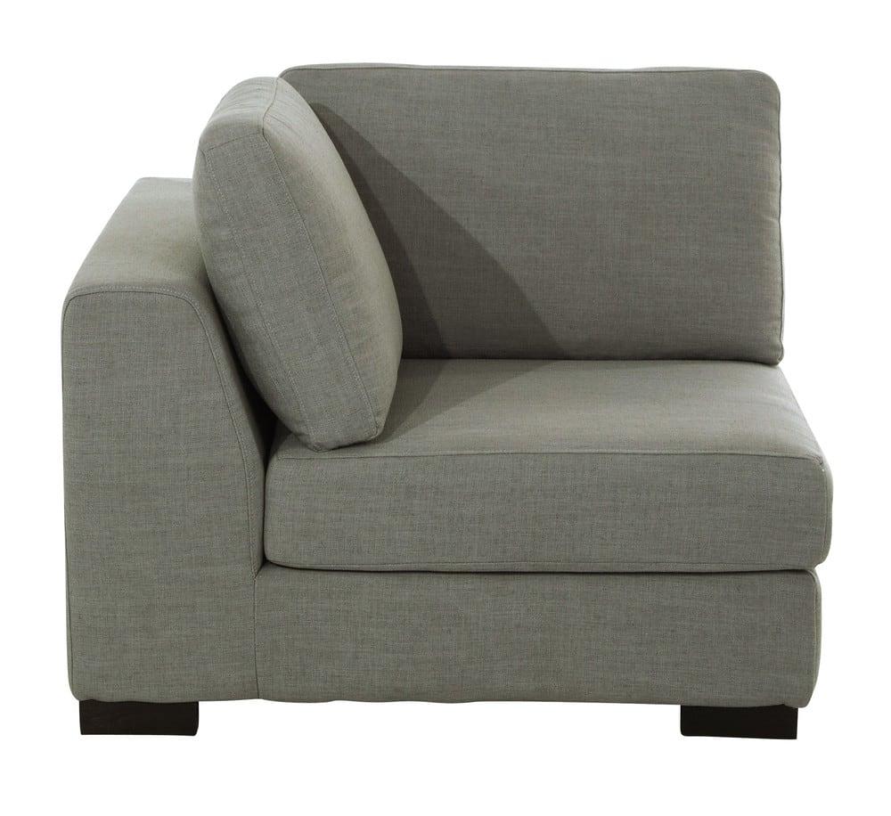 angle de canap modulable gris clair terence maisons du. Black Bedroom Furniture Sets. Home Design Ideas