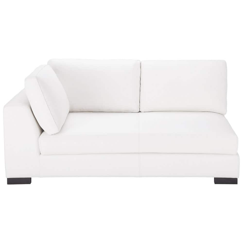 angle gauche de canap lit en cuir blanc terence maisons du monde. Black Bedroom Furniture Sets. Home Design Ideas