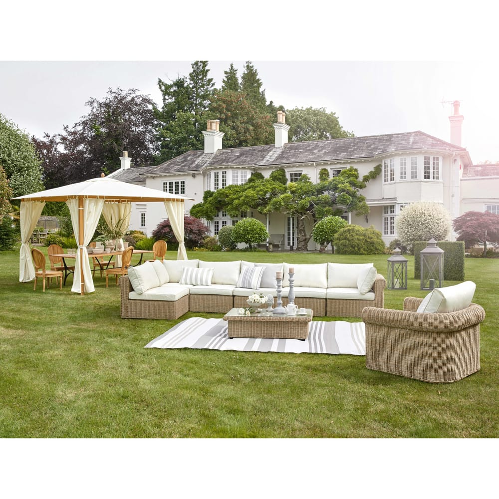 Angolo di divano da giardino in resina intrecciata e for Angolo giardino