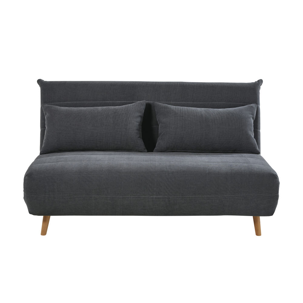 Anthracite Grey Double Day Bed Sofa Nio Maisons Du Monde