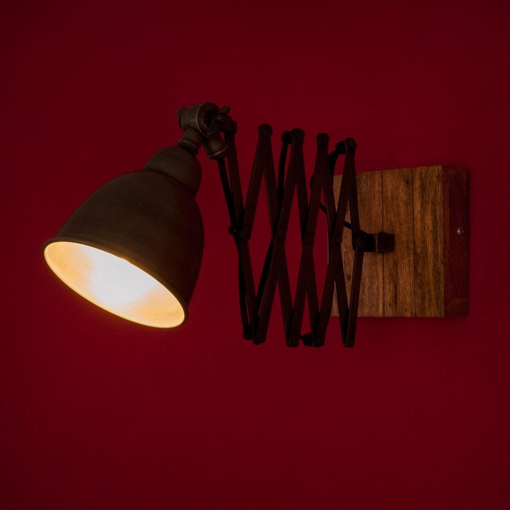 applique tirable en m tal grise h 13 cm lorient maisons du monde. Black Bedroom Furniture Sets. Home Design Ideas