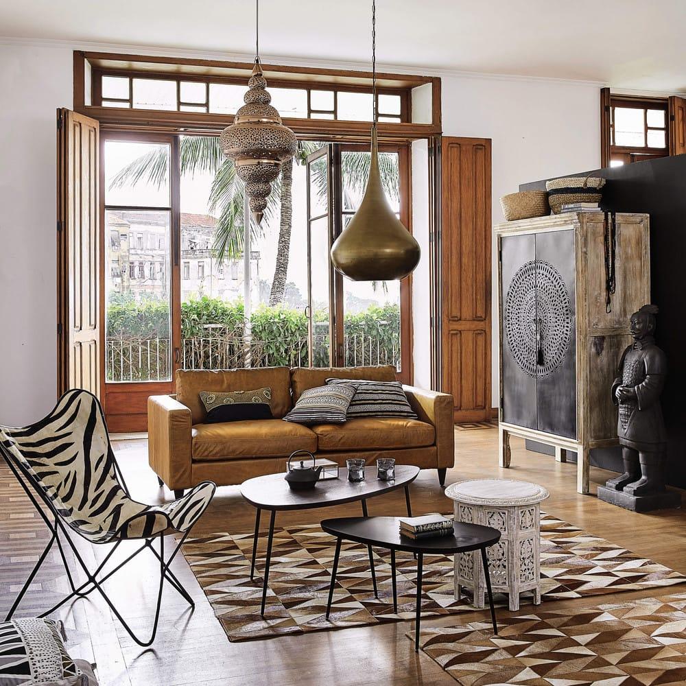 armoire en manguier massif et m tal menara maisons du monde. Black Bedroom Furniture Sets. Home Design Ideas