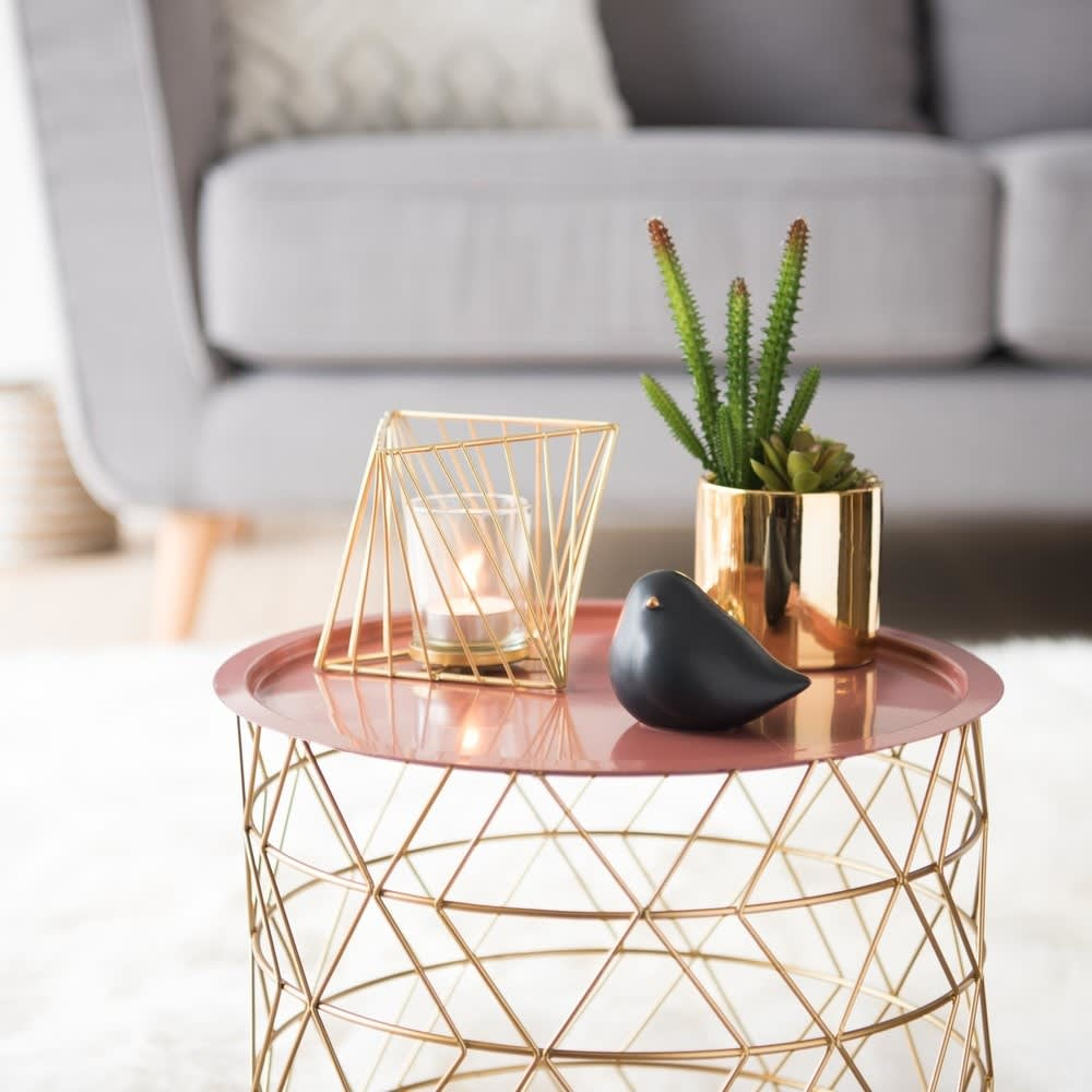 artificial succulent with gold pot maisons du monde