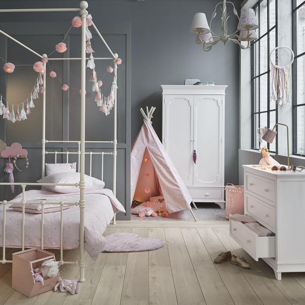 attrape r ves rose et blanc maya maisons du monde. Black Bedroom Furniture Sets. Home Design Ideas