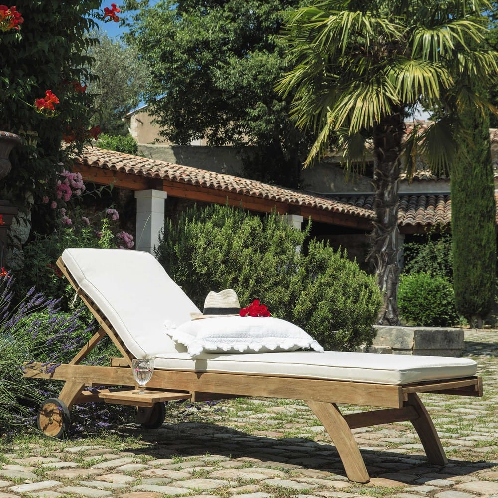 auflage f r sonnenliege ecru sunny maisons du monde. Black Bedroom Furniture Sets. Home Design Ideas