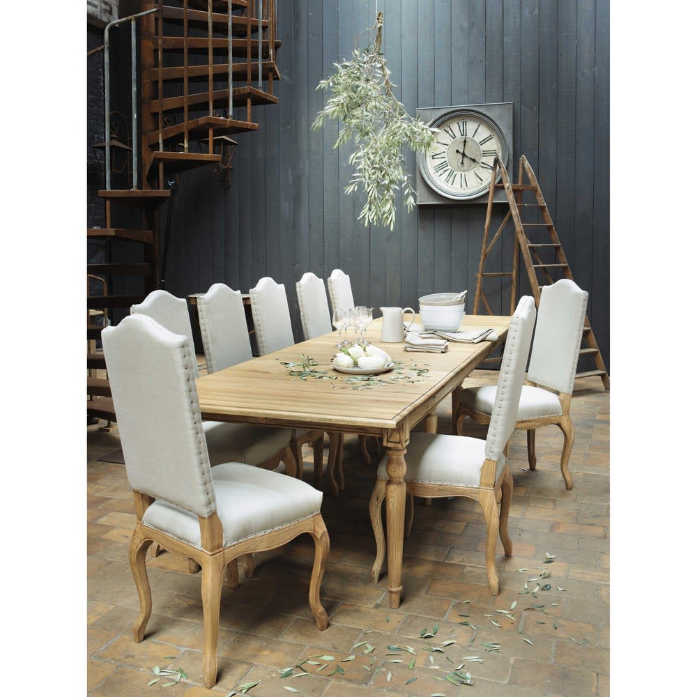 ausziehbarer esstisch 4 bis 14 personen aus eiche b 100. Black Bedroom Furniture Sets. Home Design Ideas