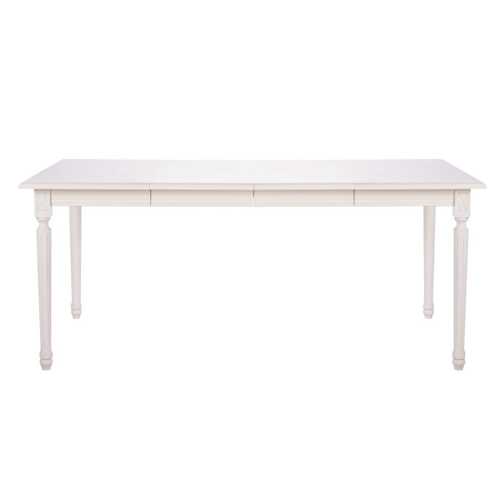 ausziehbarer esstisch 4 bis 8 personen b 100 180 cm wei. Black Bedroom Furniture Sets. Home Design Ideas
