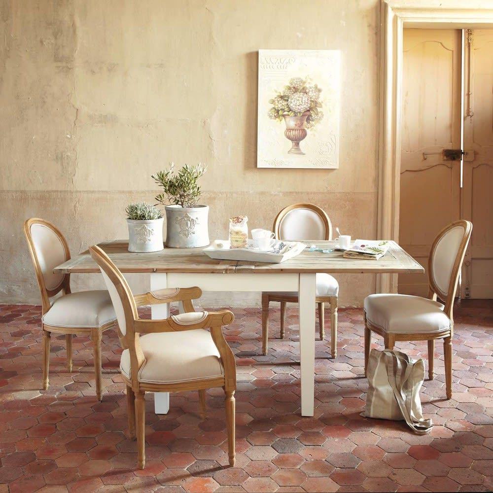 Ausziehbarer Esstisch 4 Bis 8 Personen L90 180 Provence Maisons
