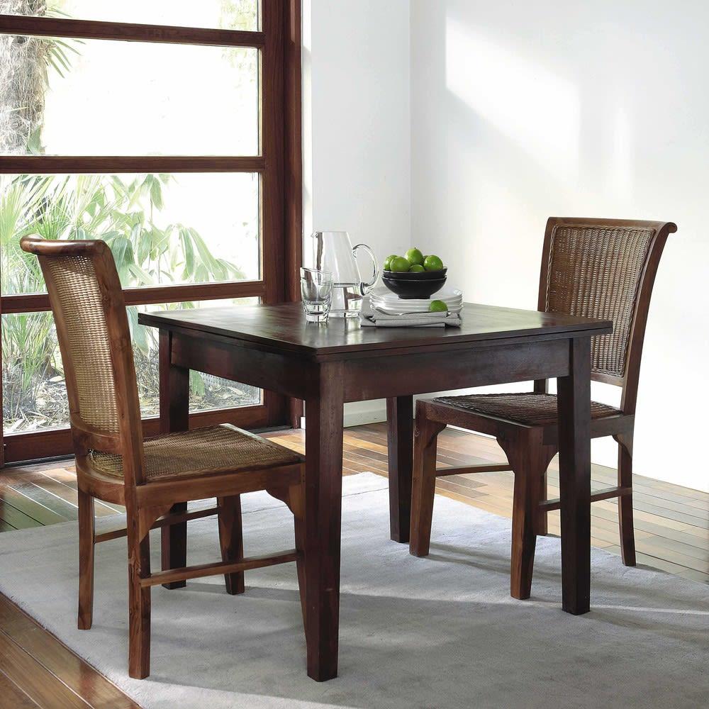 ausziehbarer esstisch 4 bis 8 personen l90 180 clic clac. Black Bedroom Furniture Sets. Home Design Ideas