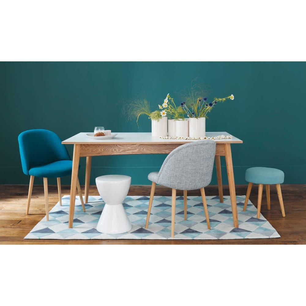 ausziehbarer esstisch 6 bis 10 personen l150 220 wei. Black Bedroom Furniture Sets. Home Design Ideas
