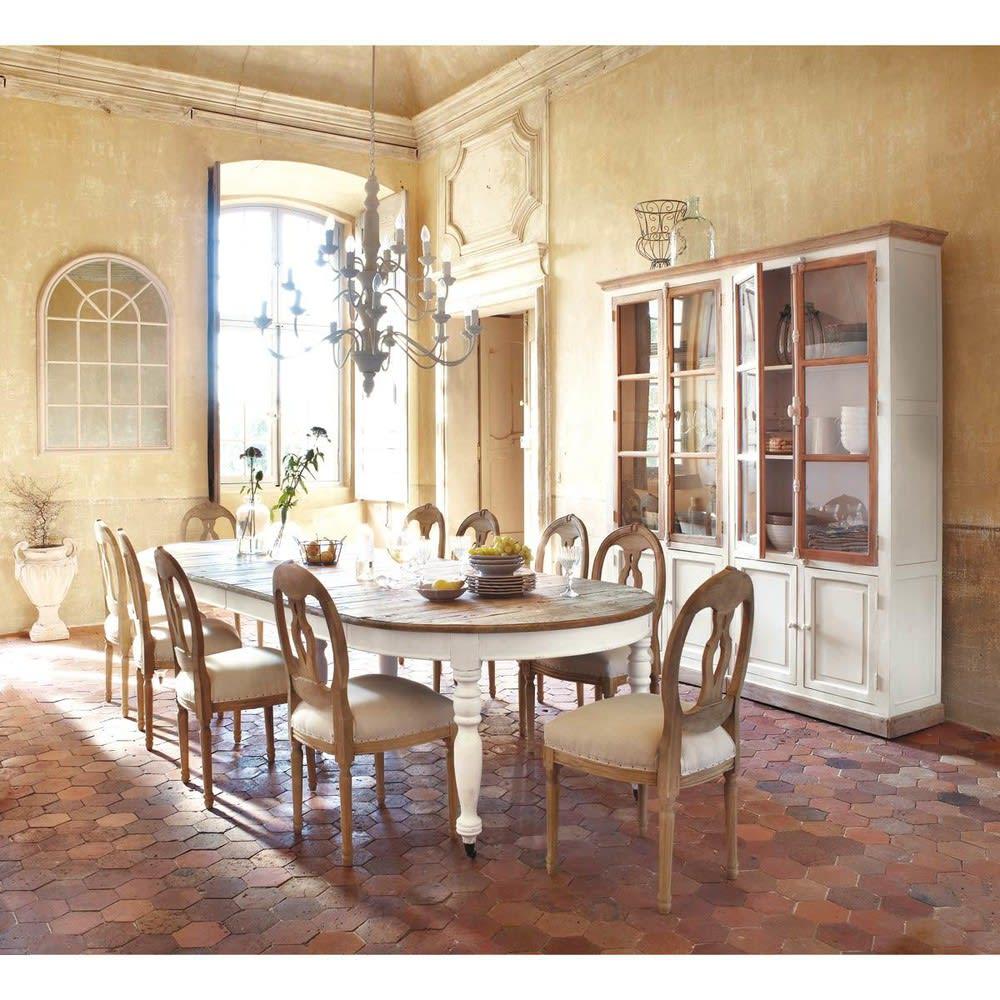 ausziehbarer esstisch 6 bis 14 personen auf rollen l125 325 provence maisons du monde. Black Bedroom Furniture Sets. Home Design Ideas