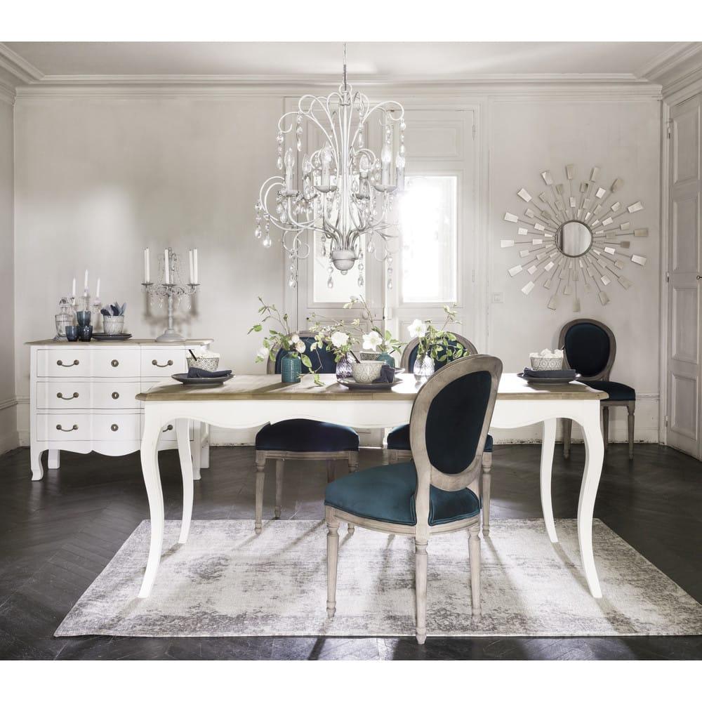 ausziehbarer esstisch 8 bis 10 personen aus mangoholz b. Black Bedroom Furniture Sets. Home Design Ideas