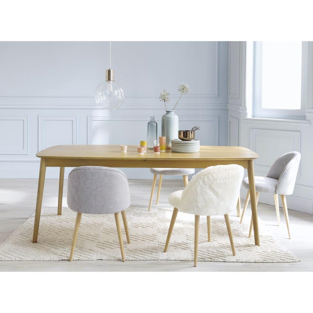 ausziehbarer esstisch 8 bis 12 personen aus eiche b 200. Black Bedroom Furniture Sets. Home Design Ideas