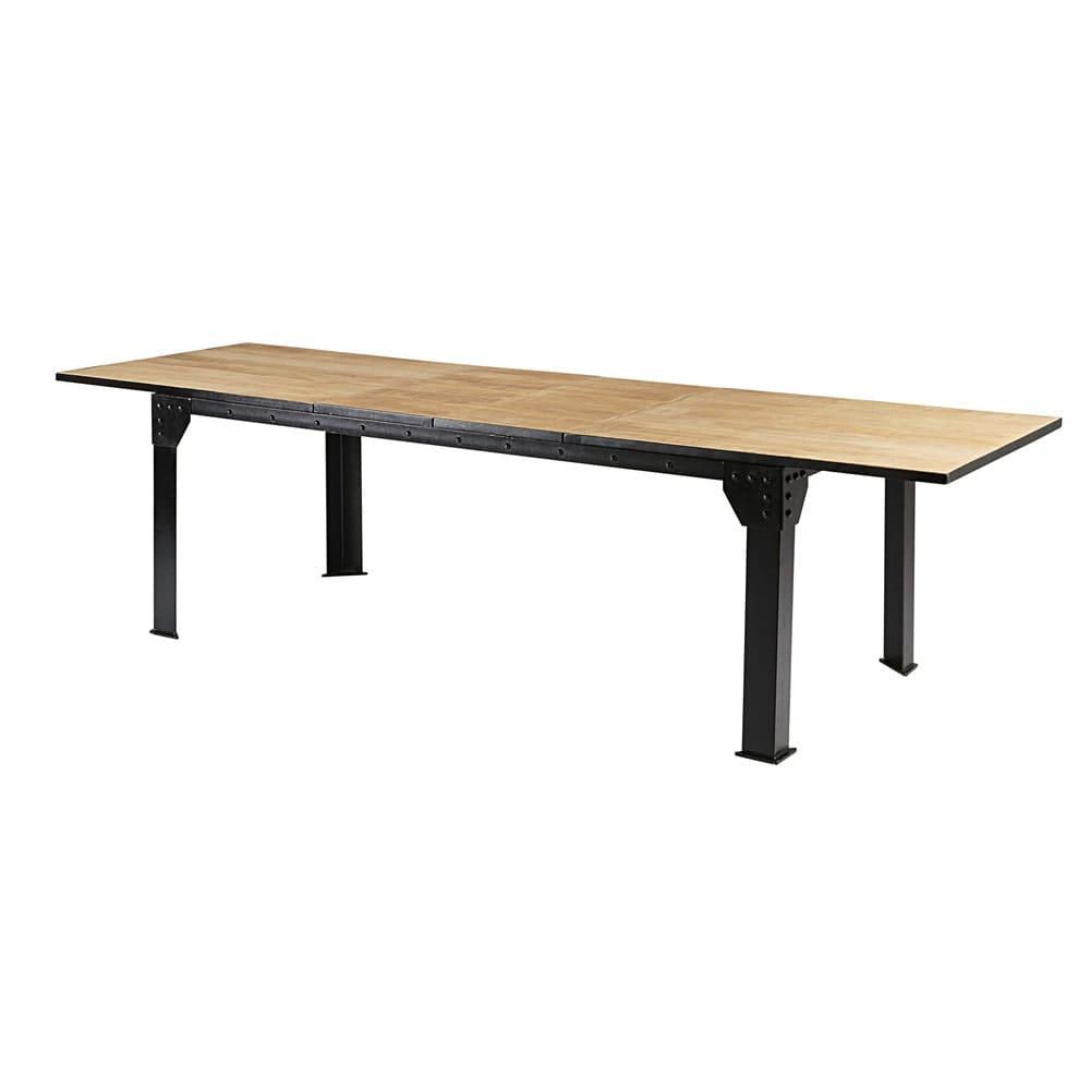 ausziehbarer esstisch 8 bis 12 personen aus mangoholz und. Black Bedroom Furniture Sets. Home Design Ideas
