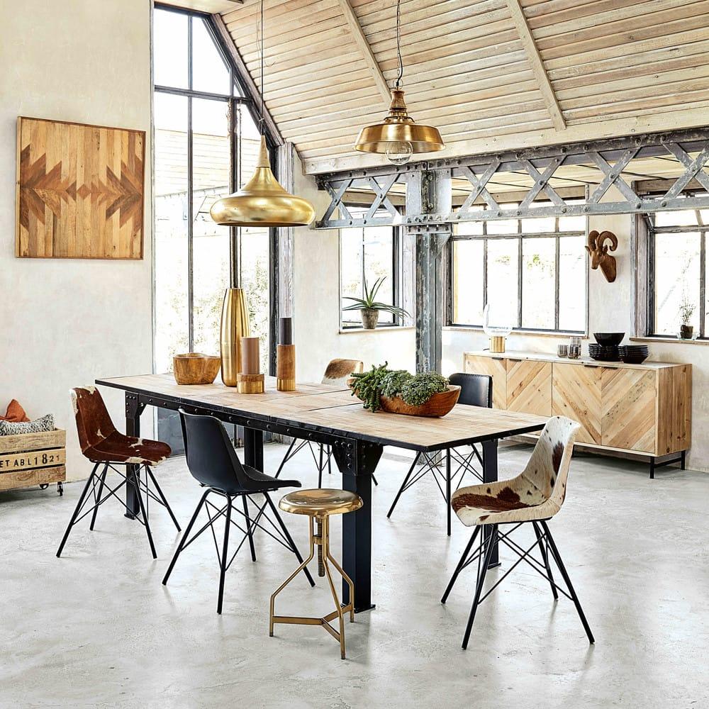 Ausziehbarer Esstisch 8 bis 12 Personen aus Mangoholz und ...