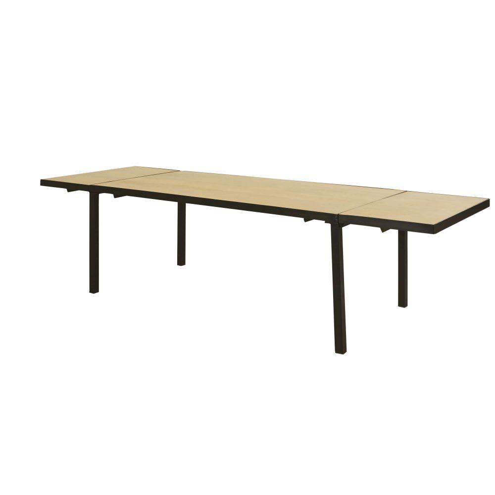 ausziehbarer esstisch aus massivem mangoholz f r 8 12. Black Bedroom Furniture Sets. Home Design Ideas