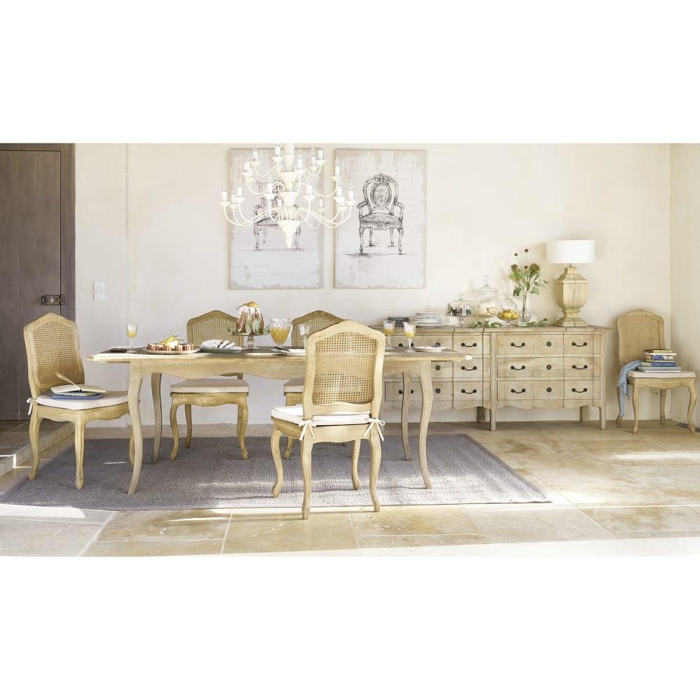 ausziehbarer esstisch f r 8 bis 10 personen mangoholz. Black Bedroom Furniture Sets. Home Design Ideas