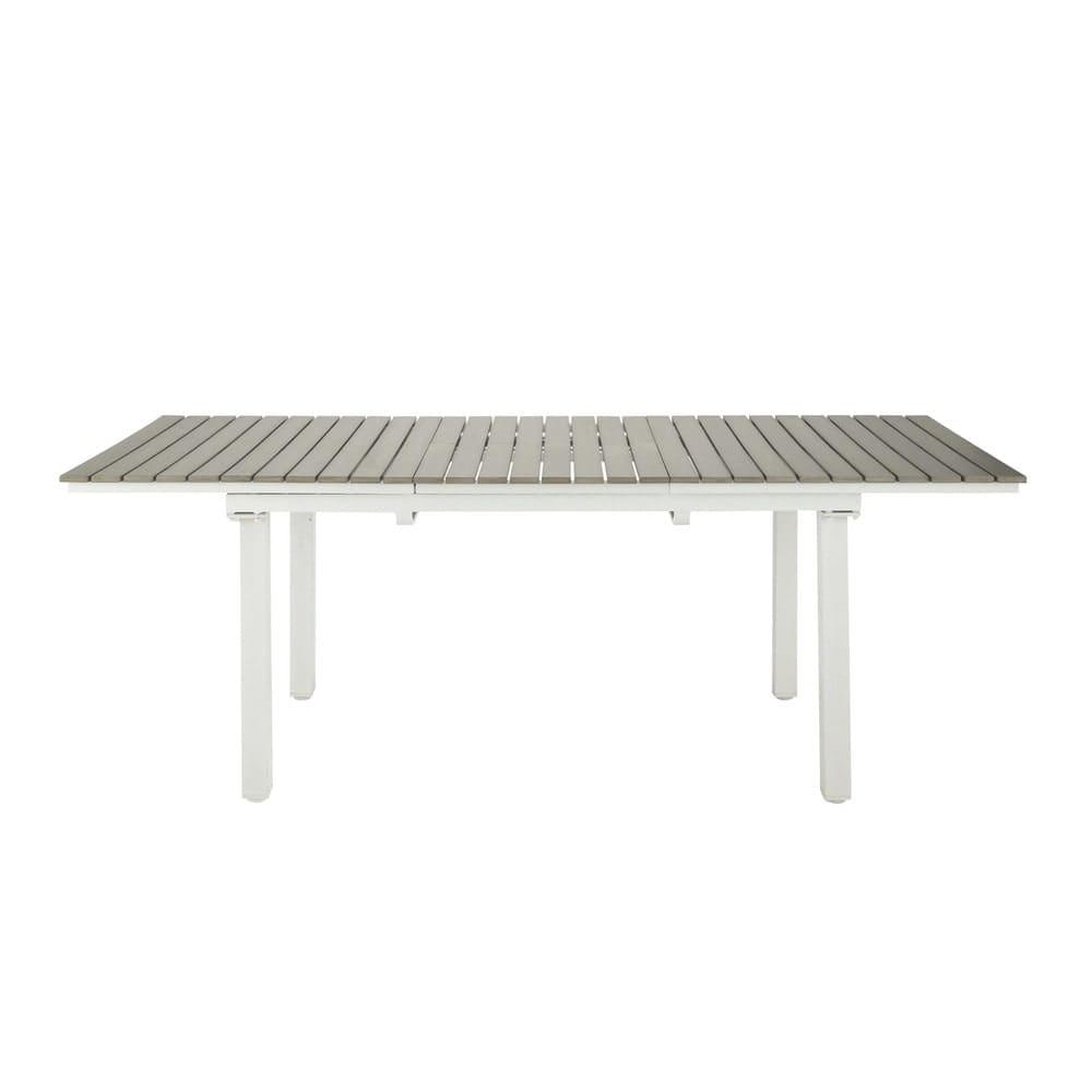 Ausziehbarer gartentisch 6 10 personen aus verbundmaterial for Gartentisch aluminium