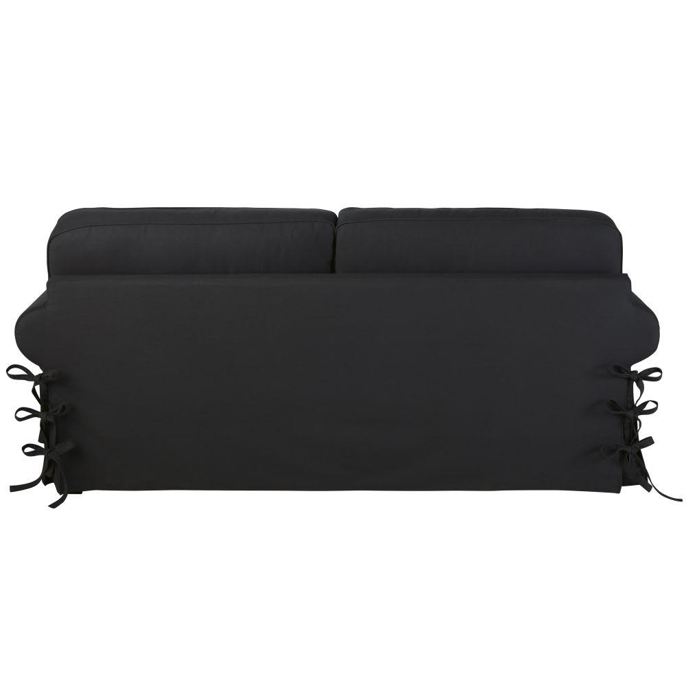 ausziehbares 3 4 sitzer sofa aus baumwolle schiefergrau. Black Bedroom Furniture Sets. Home Design Ideas
