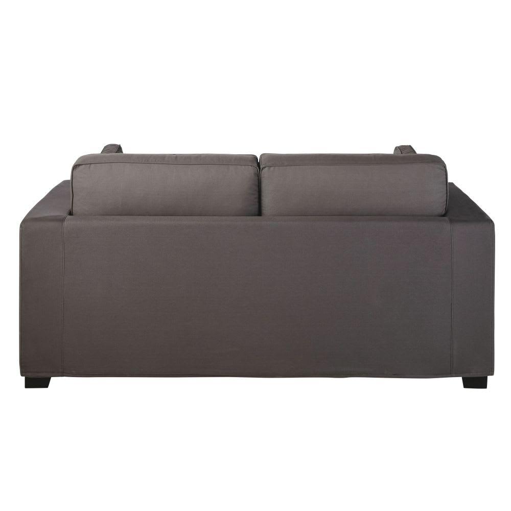ausziehbares 3 sitzer sofa aus baumwolle schiefergrau. Black Bedroom Furniture Sets. Home Design Ideas