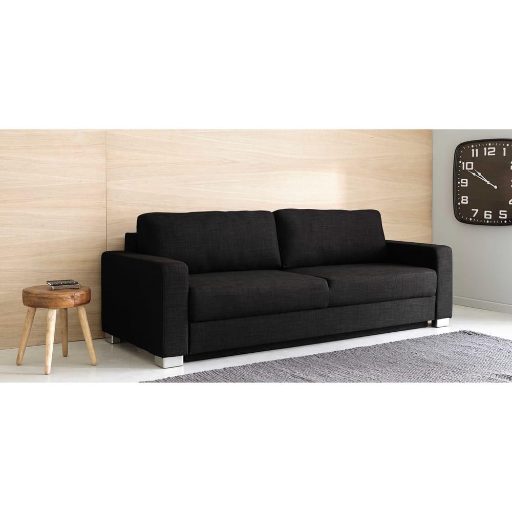 Ausziehbares 3 sitzer sofa aus stoff anthrazit urban for Sofa 4 sitzer stoff