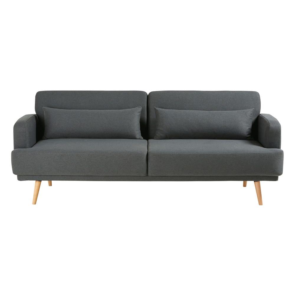 Ausziehbares 3 Sitzer Sofa Grau Elvis Maisons Du Monde