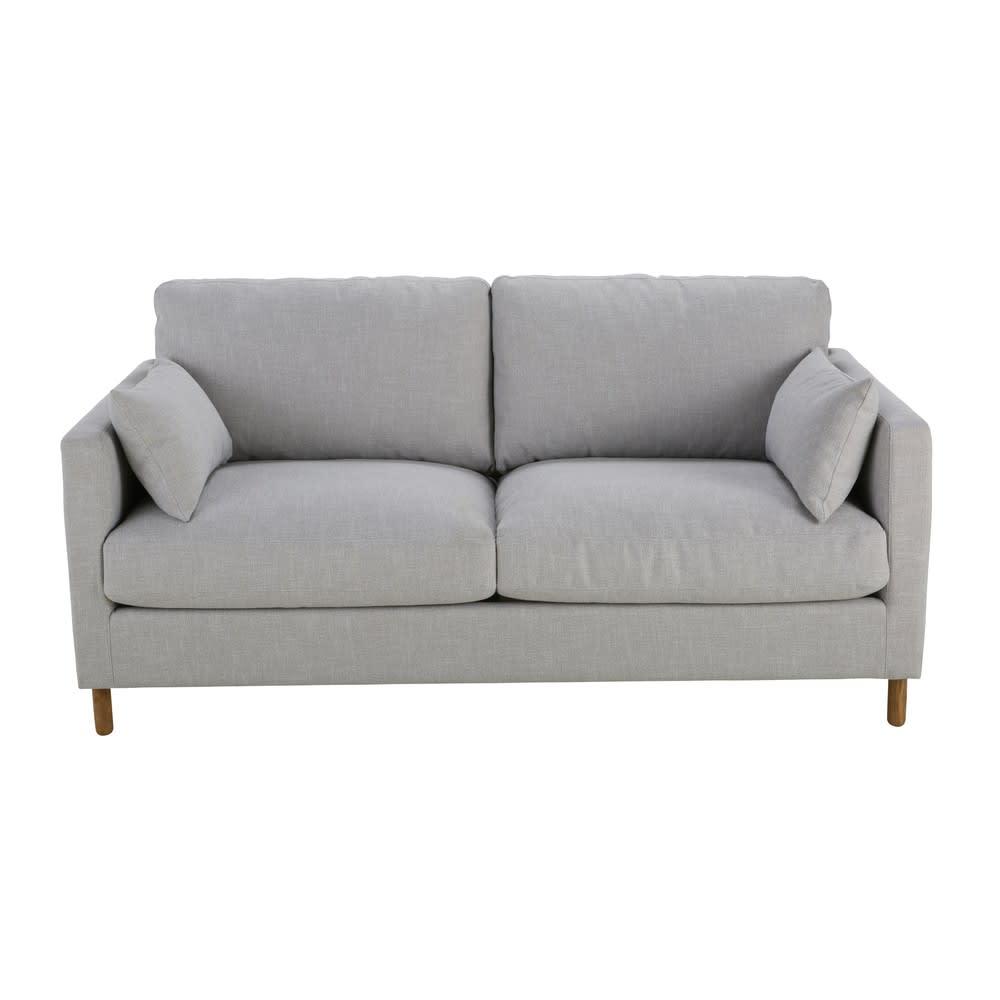 Ausziehbares 3 Sitzer Sofa Hellgrau Julian Maisons Du Monde