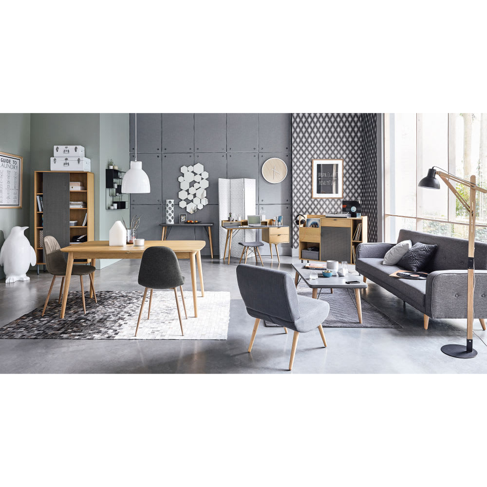 ausziehbares 3 sitzer sofa hellgrau meliert broadway. Black Bedroom Furniture Sets. Home Design Ideas