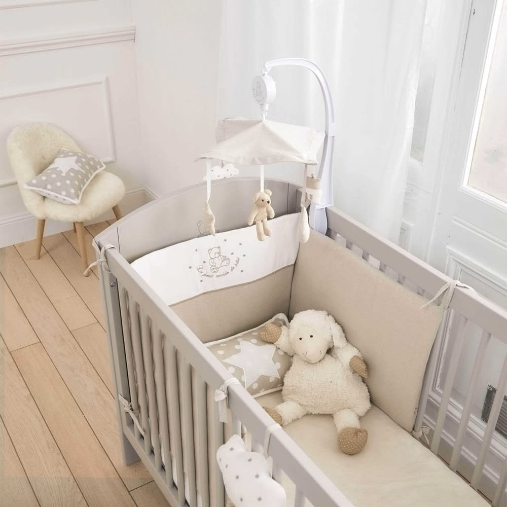 Baby Cot In Taupe W 126