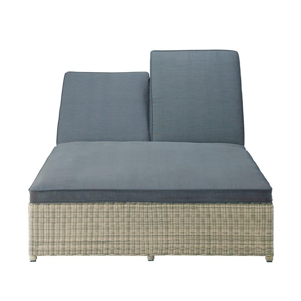 bain de soleil double en r sine tress e st rapha l. Black Bedroom Furniture Sets. Home Design Ideas