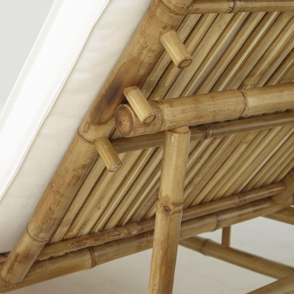 bain de soleil en bambou et toile crue robinson maisons. Black Bedroom Furniture Sets. Home Design Ideas