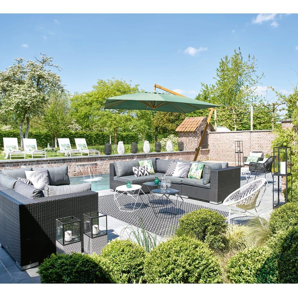 bain de soleil en m tal et toile plastifi e blanc solar. Black Bedroom Furniture Sets. Home Design Ideas