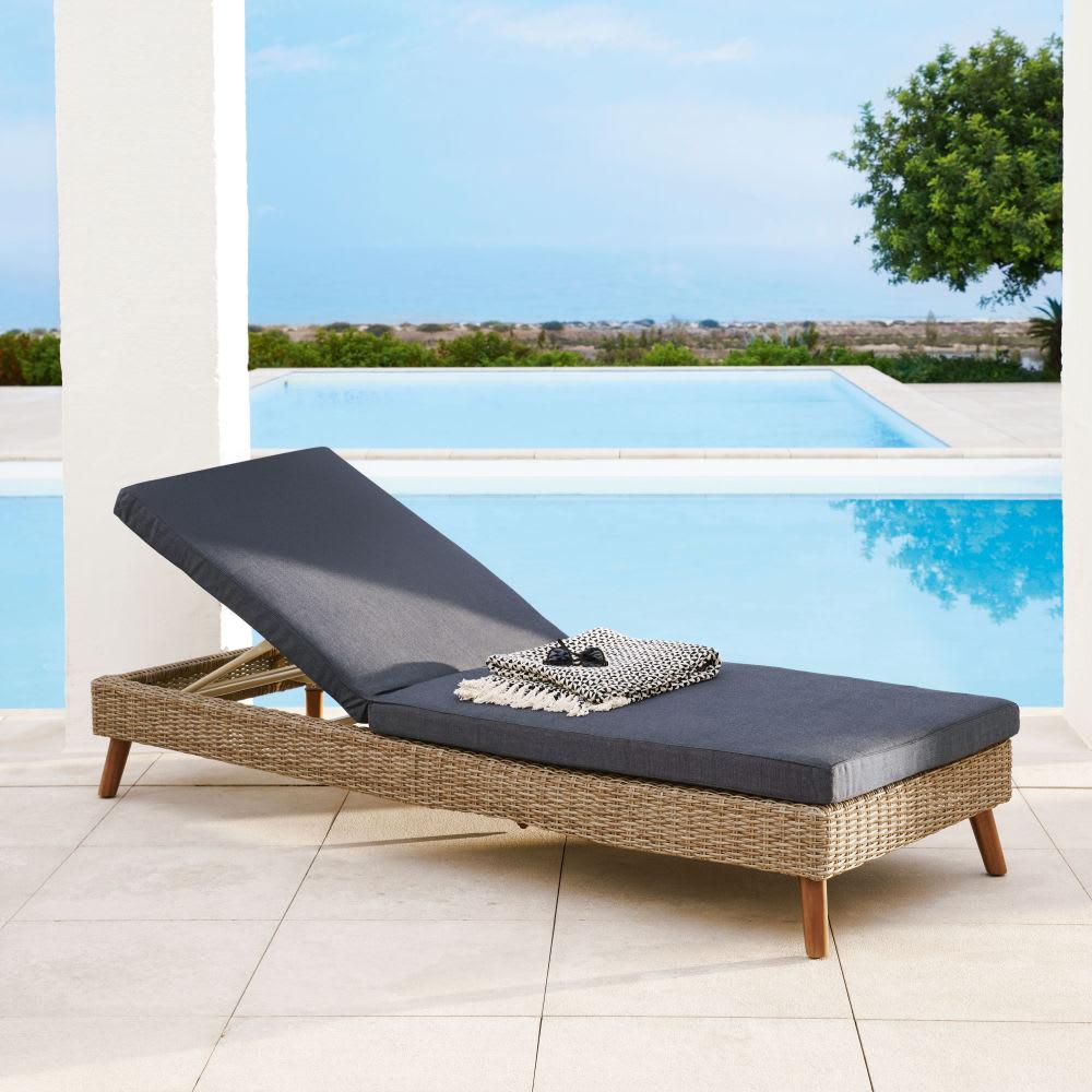 bain de soleil en r sine tress e feroe maisons du monde. Black Bedroom Furniture Sets. Home Design Ideas