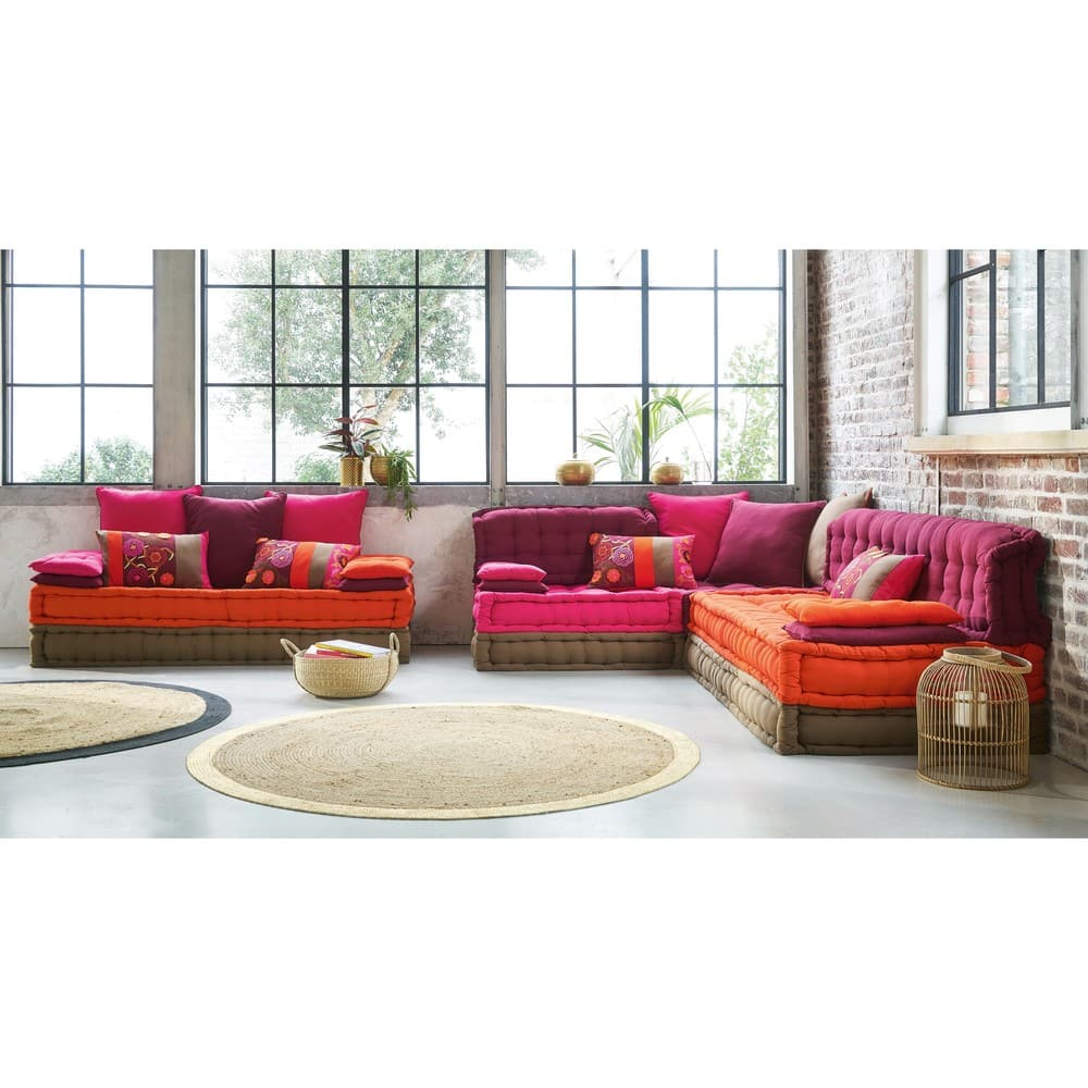 banquette 2 3 places en coton multicolore bolcho. Black Bedroom Furniture Sets. Home Design Ideas