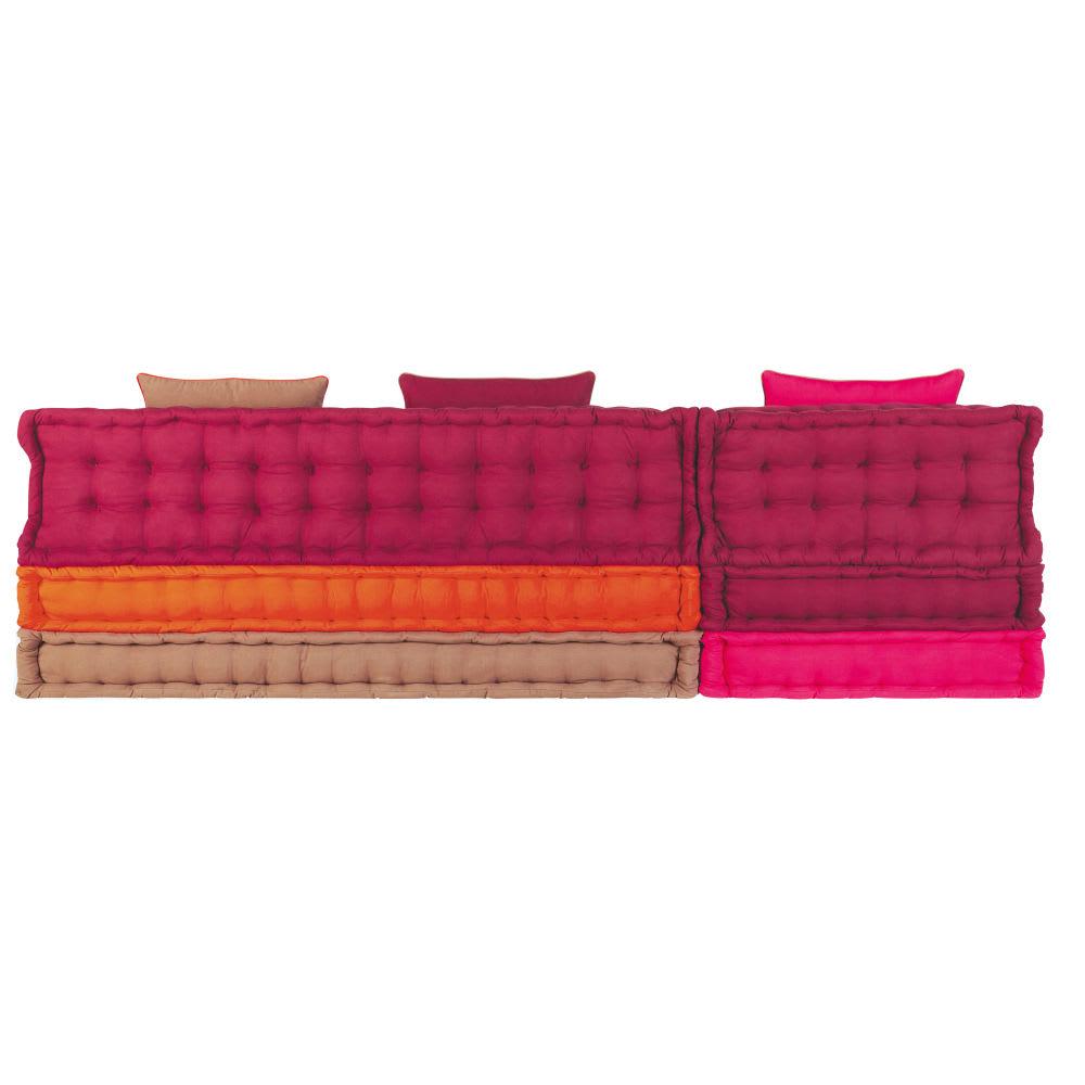banquette d 39 angle 6 places en coton multicolore bolcho. Black Bedroom Furniture Sets. Home Design Ideas