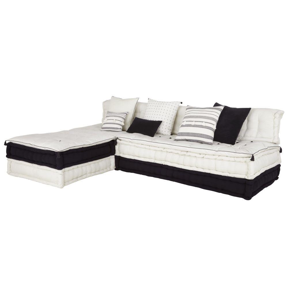 banquette d 39 angle 7 places en coton byzantin maisons du. Black Bedroom Furniture Sets. Home Design Ideas