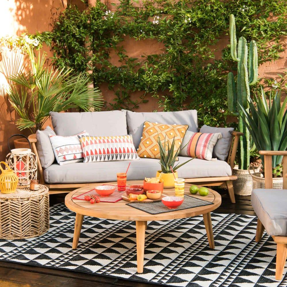 banquette de jardin 2 3 places en acacia massif et. Black Bedroom Furniture Sets. Home Design Ideas