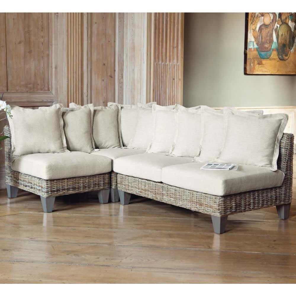 banquette de jardin 2 places en rotin kubu clair cap. Black Bedroom Furniture Sets. Home Design Ideas