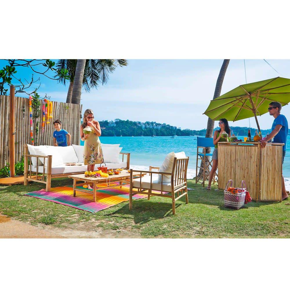 Banquette de jardin 3 places en bambou Robinson | Maisons du Monde